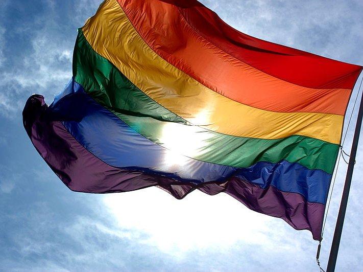 Красивая,голубой,облака,салон красоты,радуга,цвет,солнце,аннотация,флаг,жёл