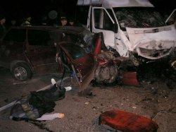 В крупной аварии в Днепропетровской области погибло четыре человека