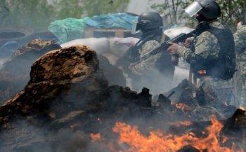 Боевики из Киева напали на блокпост ополченцев в Донецкой области