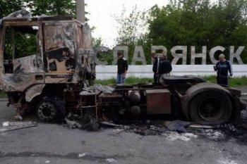 Артиллерийский удар по ополченцам жители Славянска приняли на себя